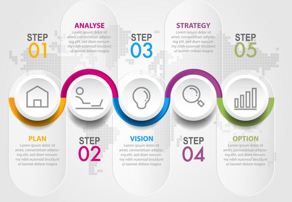 Business infographics design elements template graphic illustration